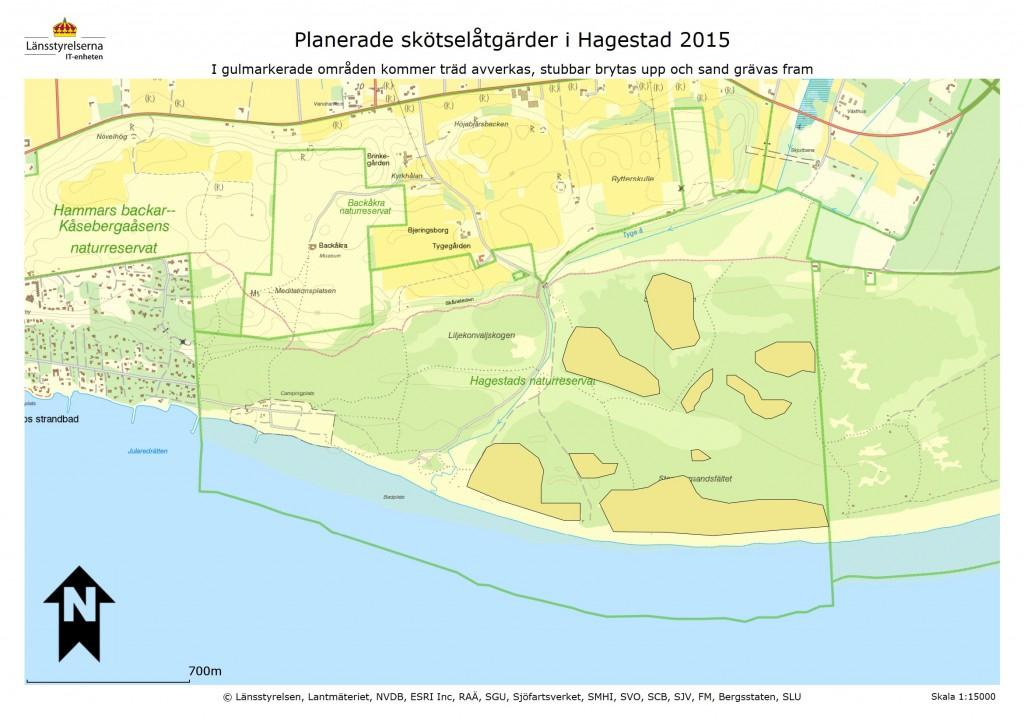 Hagestad skötselområden 2015 avverkning