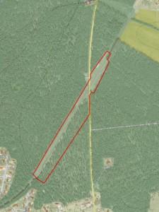 Karta över Natura 2000-området Lyngby