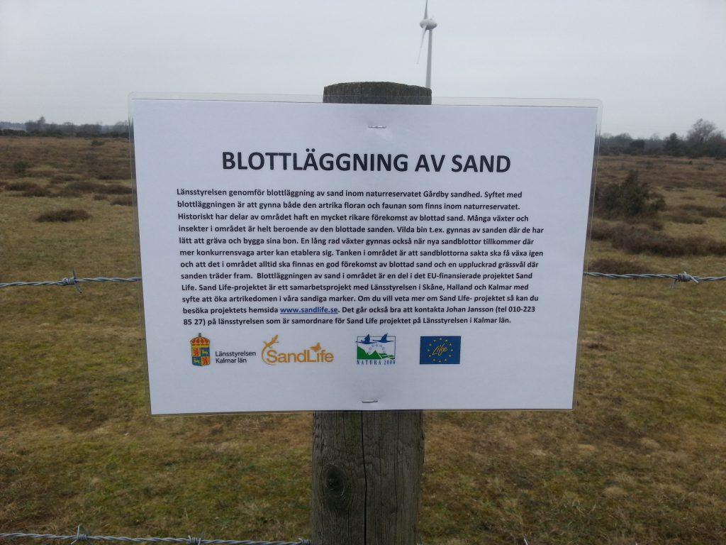 Skyltning Gårdby sandstäpp20150213_094108