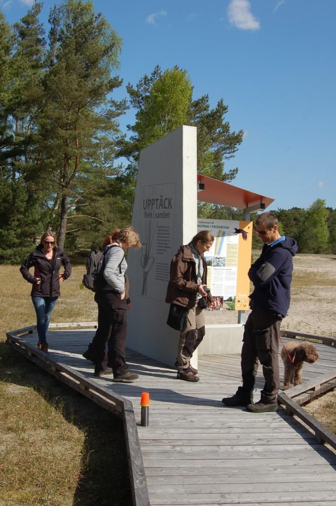 Projektets monitor besöker utemuseet I Friseboda i Skåne
