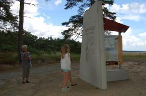 Outdoor museum at Rinkaby firing range in June 2014.