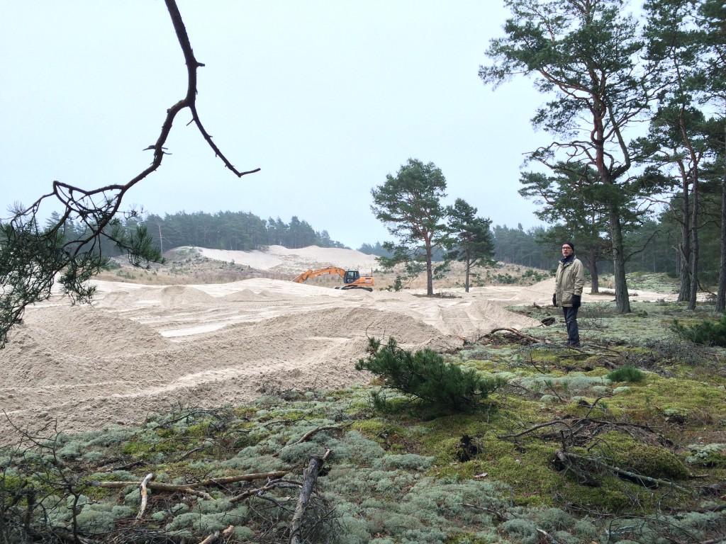 grävning gropahålet feb 2015