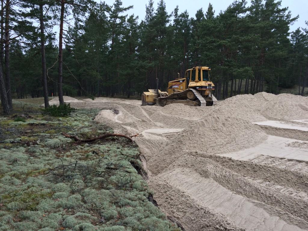 gropahålet grävning feb 2015